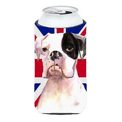 Boxer Cooper With English Union Jack British Flag Tall Boy bottle sleeve Hugg...