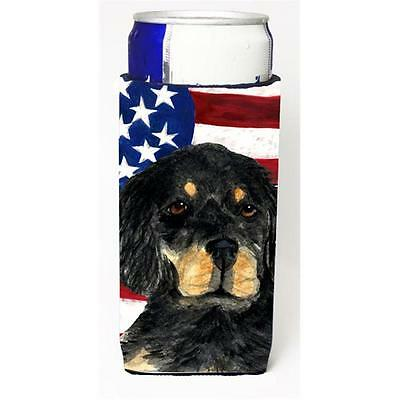 Usa American Flag With Gordon Setter Michelob Ultra bottle sleeves For Slim C...