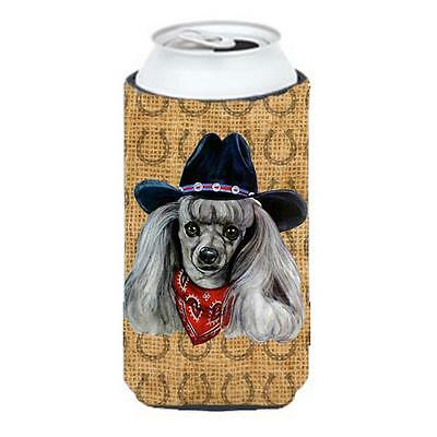 Poodle Dog Country Lucky Horseshoe Tall Boy bottle sleeve Hugger