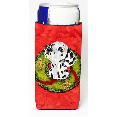 Dalmatian Christmas Wreath Michelob Ultra bottle sleeves For Slim Cans 12 oz.