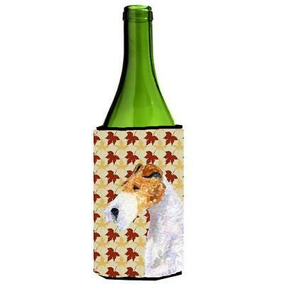Carolines Treasures Fox Terrier Fall Leaves Portrait Wine bottle sleeve Hugger