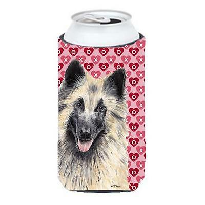 Belgian Tervuren Hearts Valentines Day Portrait Tall Boy bottle sleeve Hugger