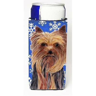 Yorkie Winter Snowflakes Holiday Michelob Ultra bottle sleeves For Slim Cans ...
