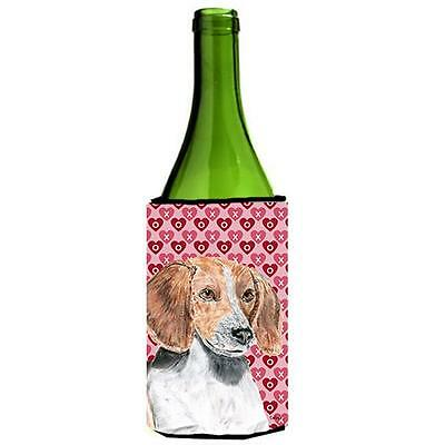 English Foxhound Valentines Love Wine bottle sleeve Hugger 24 oz.