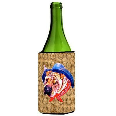 Shar Pei Dog Country Lucky Horseshoe Wine bottle sleeve Hugger