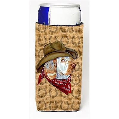 Clumber Spaniel Dog Country Lucky Horseshoe Michelob Ultra bottle sleeves For...