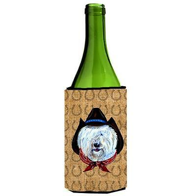 Old English Sheepdog Dog Country Lucky Horseshoe Wine bottle sleeve Hugger