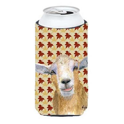 Carolines Treasures Fall Leaves Goat Tall Boy bottle sleeve Hugger 22 To 24 oz.