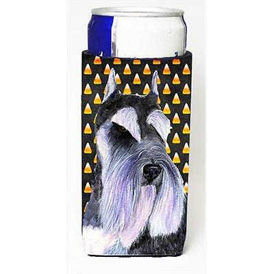Schnauzer Candy Corn Halloween Portrait Michelob Ultra bottle sleeves For Sli...