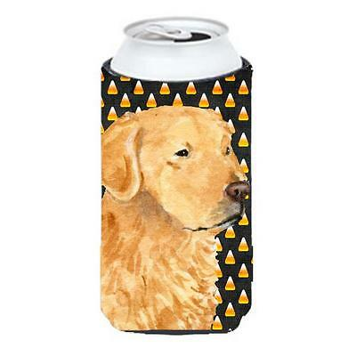Golden Retriever Candy Corn Halloween Portrait Tall Boy bottle sleeve Hugger ...