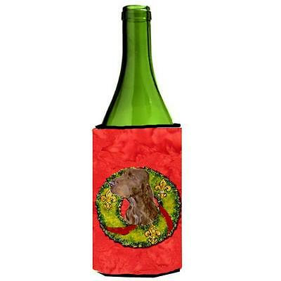 Carolines Treasures Field Spaniel Cristmas Wreath Wine bottle sleeve Hugger