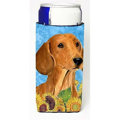 Dachshund In Summer Flowers Michelob Ultra bottle sleeves For Slim Cans 12 oz.
