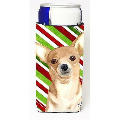 Candy Stripe Chihuahua Christmas Michelob Ultra bottle sleeves for slim cans ...