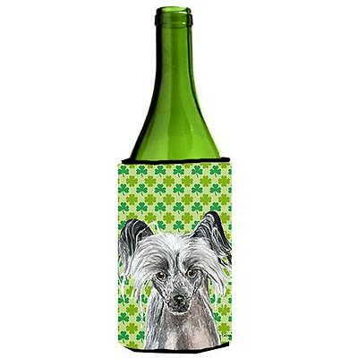 Chinese Crested St Patricks Irish Wine bottle sleeve Hugger 24 oz.