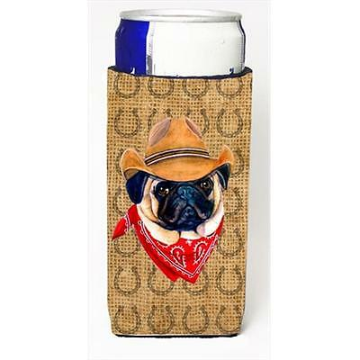 Pug Dog Country Lucky Horseshoe Michelob Ultra bottle sleeves For Slim Cans