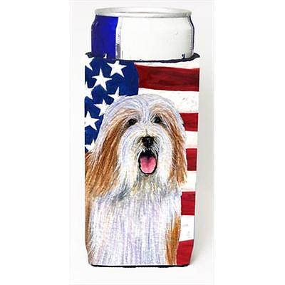 Usa American Flag With Bearded Collie Michelob Ultra bottle sleeves For Slim ...