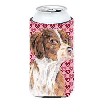 Brittany Hearts Love and Valentines Day Portrait Tall Boy bottle sleeve Hugger