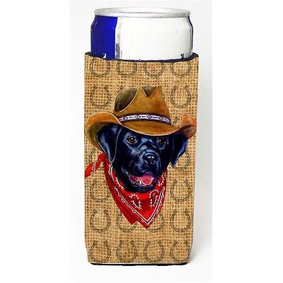 Labrador Dog Country Lucky Horseshoe Michelob Ultra bottle sleeves For Slim C...