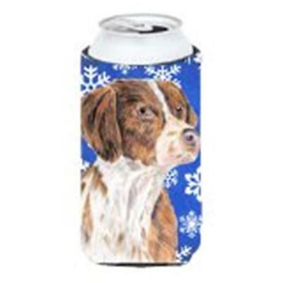 Brittany Winter Snowflakes Holiday Tall Boy bottle sleeve Hugger