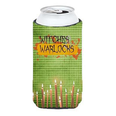 Witches And Warlocks Halloween Tall Boy bottle sleeve Hugger 22 To 24 oz.