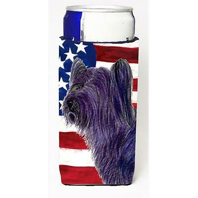 Usa American Flag With Skye Terrier Michelob Ultra bottle sleeves For Slim Cans