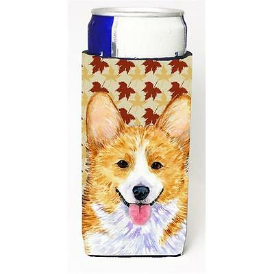 Carolines Treasures Corgi Fall Leaves Portrait Michelob Ultra for Slim Can