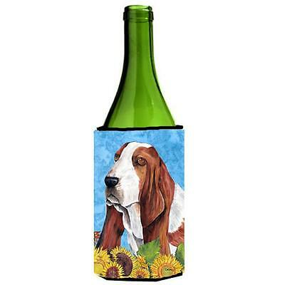 Carolines Treasures SC9066LITERK Basset Hound Wine bottle sleeve Hugger 24 oz.