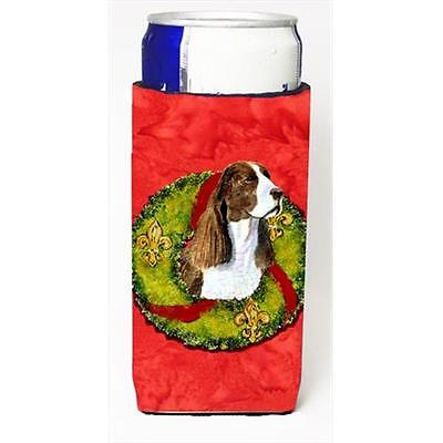 Springer Spaniel Cristmas Wreath Michelob Ultra bottle sleeves For Slim Cans