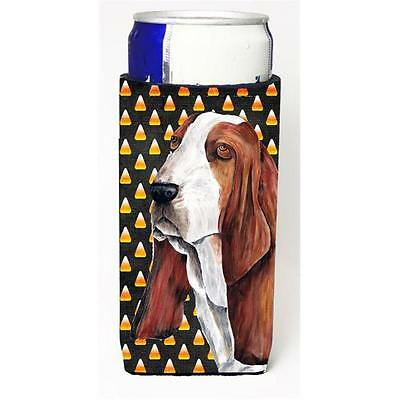 Basset Hound Candy Corn Halloween Portrait Michelob Ultra s for slim cans