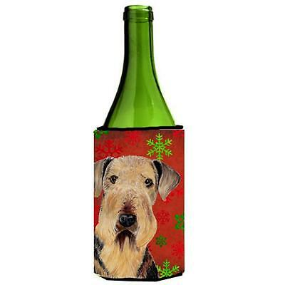 Carolines Treasures Airedale Snowflakes Holiday Christmas Wine Bottle Hugger