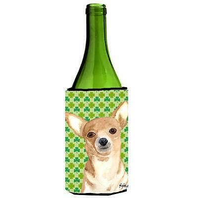 Carolines Treasures Chihuahua St Patricks Day Wine bottle sleeve Hugger 24 oz. • AUD 48.26