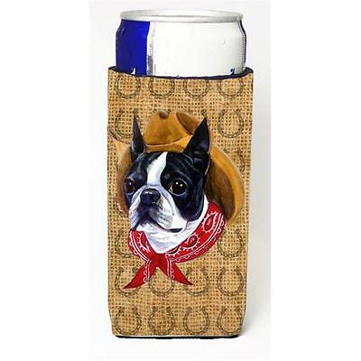 Boston Terrier Dog Country Lucky Horseshoe Michelob Ultra bottle sleeves For ...