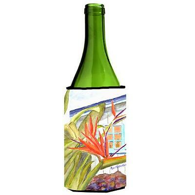 Carolines Treasures Flower Bird Of Paradise Wine bottle sleeve Hugger