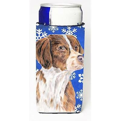 Brittany Winter Snowflakes Holiday Michelob Ultra bottle sleeves For Slim Cans