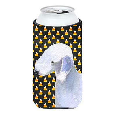 Bedlington Terrier Candy Corn Halloween Portrait Tall Boy bottle sleeve Hugge...