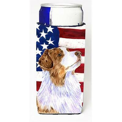 Usa American Flag With Australian Shepherd Michelob Ultra bottle sleeves For ...