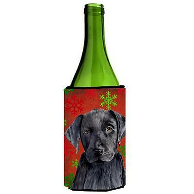 Labrador Snowflakes Holiday Christmas Wine bottle sleeve Hugger