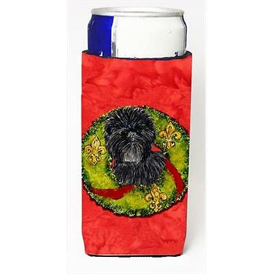 Affenpinscher Cristmas Wreath Michelob Ultra bottle sleeves For Slim Cans