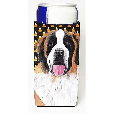 Saint Bernard Candy Corn Halloween Portrait Michelob Ultra s for slim cans