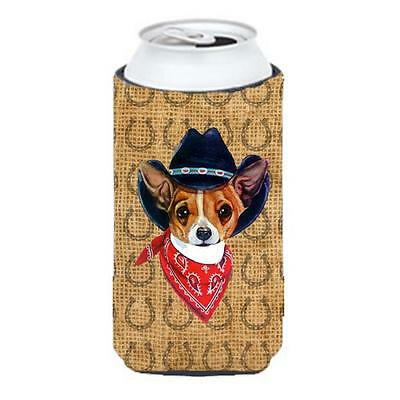 Chihuahua Dog Country Lucky Horseshoe Tall Boy bottle sleeve Hugger
