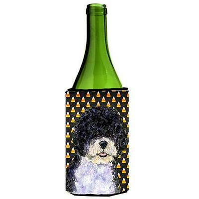 Portuguese Water Dog Candy Corn Halloween Portrait Wine bottle sleeve Hugger ...