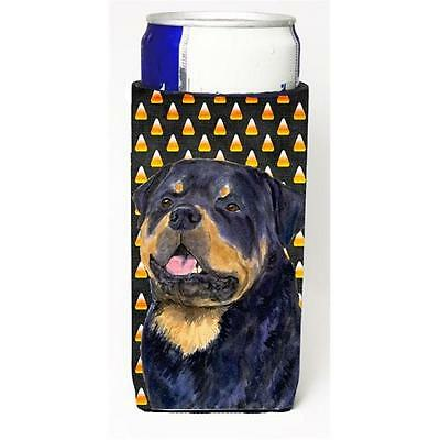Rottweiler Candy Corn Halloween Portrait Michelob Ultra s for slim cans