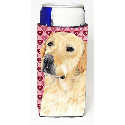 Labrador Yellow Hearts Love Valentines Day Michelob Ultra bottle sleeve for S...