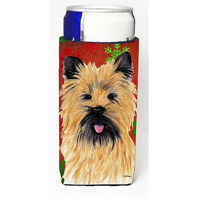 Cairn Terrier Red and Green Snowflakes Holiday Christmas Michelob Ultra s for...