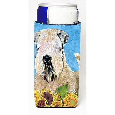 Wheaten Terrier Soft Coated In Summer Flowers Michelob Ultra bottle sleeves F...