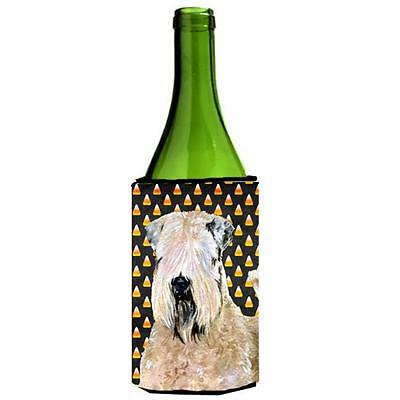 Wheaten Terrier Soft Coated Halloween Portrait Wine bottle sleeve Hugger 24 Oz.