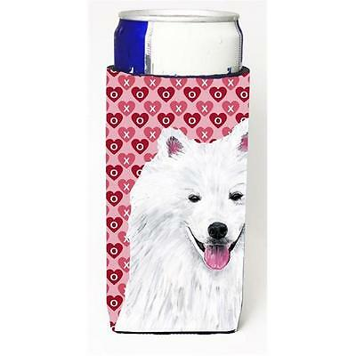 American Eskimo Hearts Love and Valentines Day Portrait Michelob Ultra bottle...