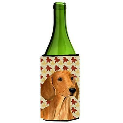 Carolines Treasures Dachshund Fall Leaves Portrait Wine bottle sleeve Hugger