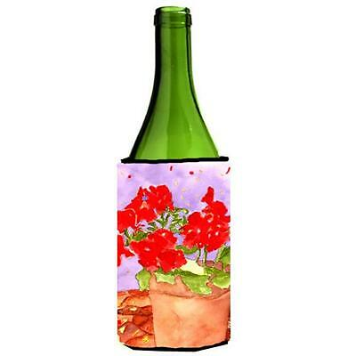 Carolines Treasures RDR2004LITERK Flower Geranium Wine bottle sleeve Hugger