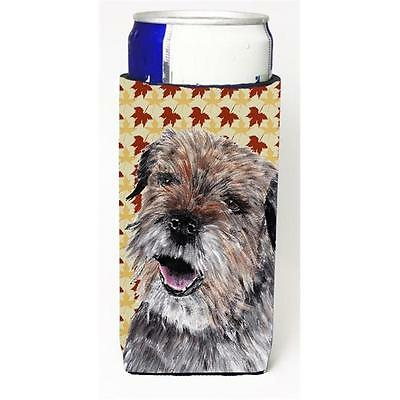 Border Terrier Fall Leaves Michelob Ultra bottle sleeve for Slim Can